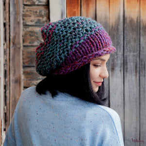 Brooklyn Slouchy Hat in Blue Purple