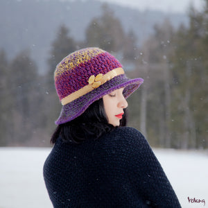 Sunday Hat in Purple Gold