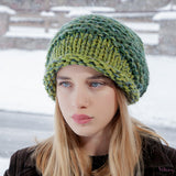 Brooklyn Slouchy Hat in Green