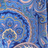Silk Headband in Blue Paisley
