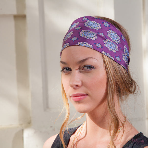 Silk Headband in Purple