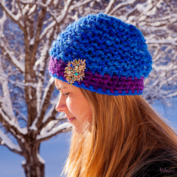 Tiffany Hat in Cobalt Blue