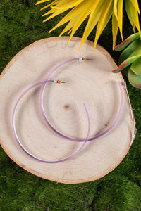 Hoop Earrings in Lavender
