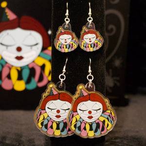 Doll Face Acrylic Earrings