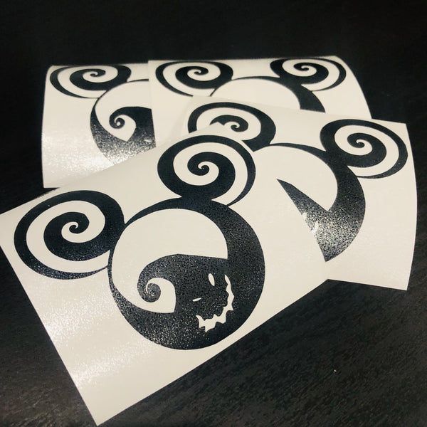 "Oogie Boogie Mickey Shape 3"" Decal"