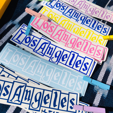 Los Angeles Retro Sign Decal