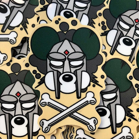 MF DOOM X DANGER MOUSE -Mickey Edition Sticker