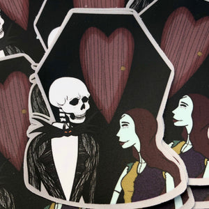 Jack and Sally Sticker