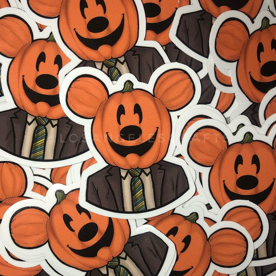 Dwight Pumpkin Head Sticker -Mickey Edition