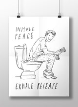 Load image into Gallery viewer, Inhale peace, exhale release; A3 poster
