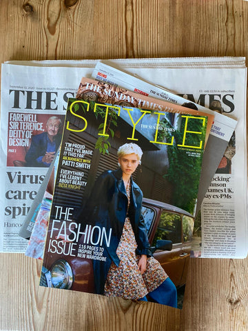 Style Magazine Sunday Times Newspaper feature Haines Collection upcycled saved from landfill textiles