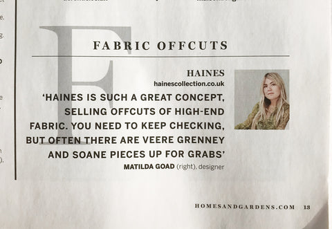 Matilda Goad talk about the Haines Collection Upcycled fabrics saved from landfill