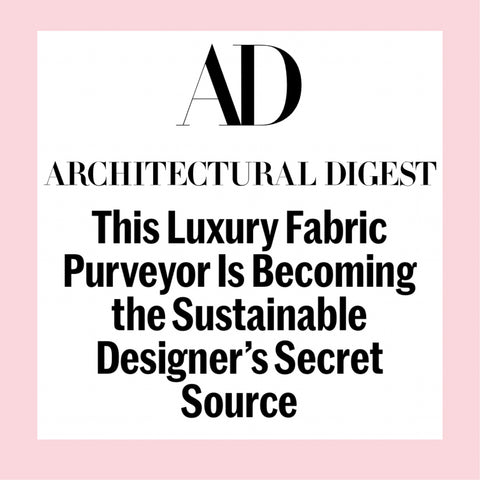 Architectural Digest ADPRO feature the Haines Collection Luxury Waste Fabrics
