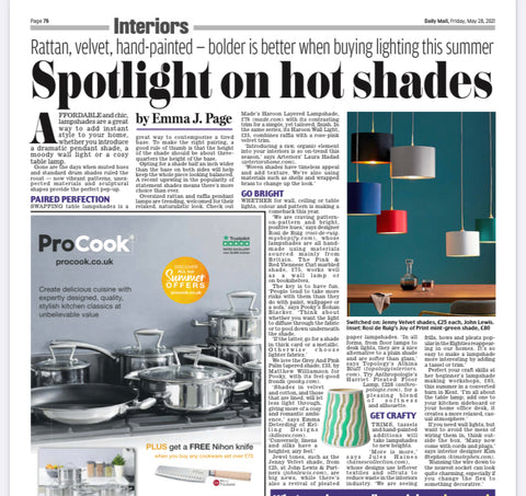 Daily Mail and Haines Collection feature upcycle lampshade making workshops