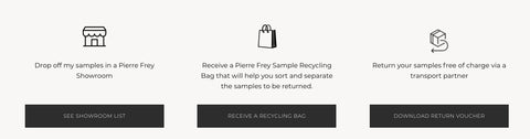 Pierre Frey Reduce Textile Waste by reducing samples
