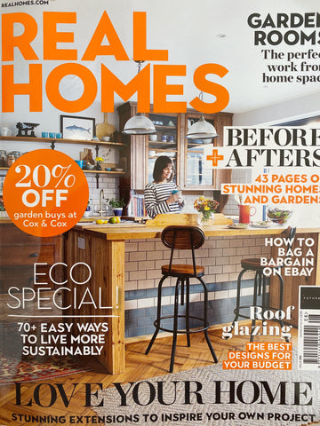 Real Homes Magazine feature Haines Collection upcycled fabrics saved from Landfill