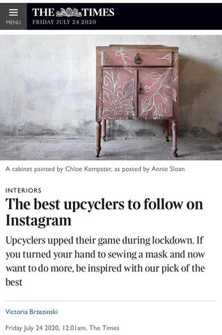 Haines Collection Featured in The Times as Best Upcyclers on Instagram