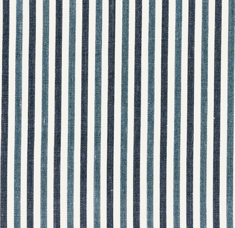 Nicky Haslam After All Stripe - Blue and Indigo