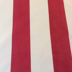 Sahco Hesslein - Red and Cream Stripe