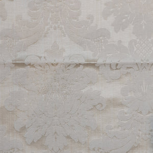 Damask - White on Cream  Remnant