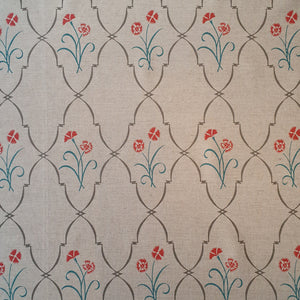 Borderline Dianthus Trellis Linen - Red