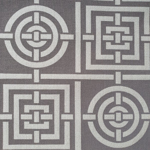 Florence Broadhurst Circles and Squares - Grey