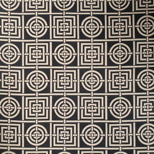 Florence Broadhurst Circles and Squares - Black and Cream