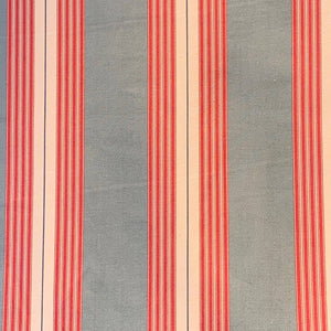 Ian Mankin Panama Stripe - Red and Seagreen