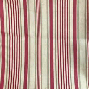 Cotton Stripe - Red and Natural