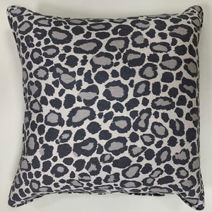 Anna French Leopard Print Cushion - Grey
