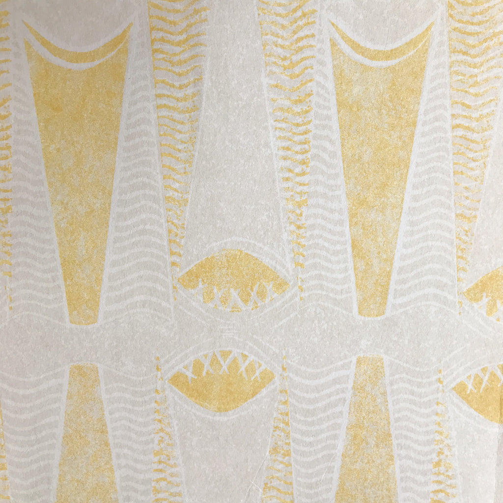 Virginia White Sompting Wallpaper - Yellow