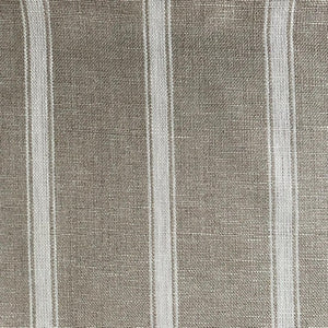 White and Linen Ticking Stripe