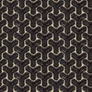 Clarence House Cheng Tudor Embroidery - Black and Beige
