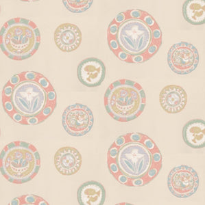 Sanderson Clarice Wallpaper - Pink and Turquoise