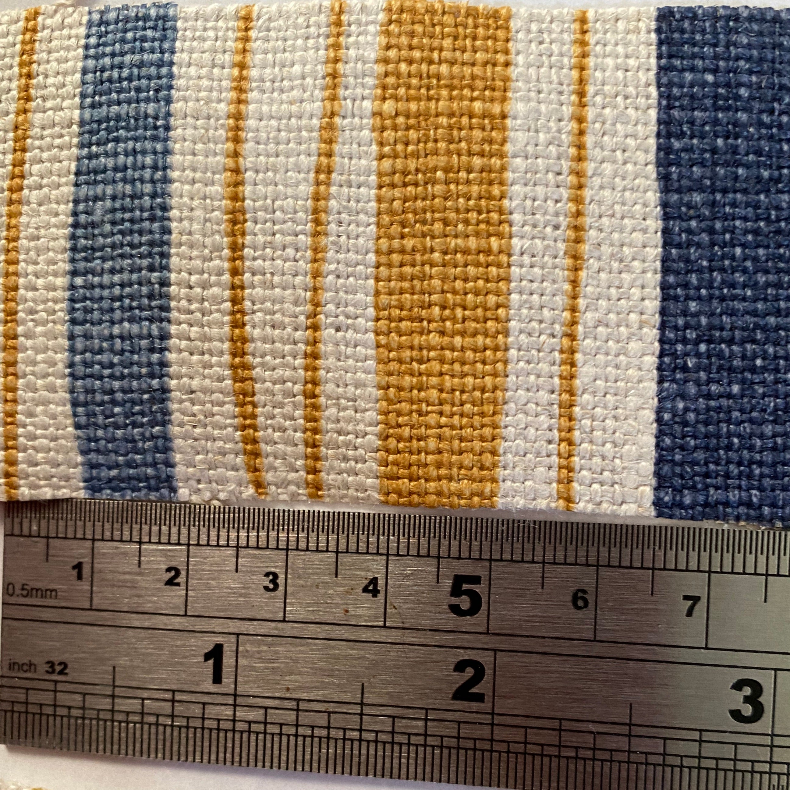 Christopher Farr Boundary - Navy and Mustard