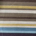 George Smith Woven Striped Linen Avon - Multi, Brown, Blue and Mustard