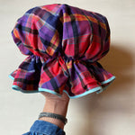 Bath Cap - Multicoloured Check
