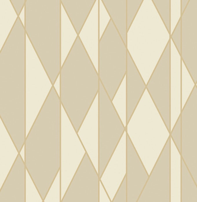 Cole and Son Oblique Wallpaper - Fawn and Cream