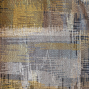Jane Churchill Metropolis - Gold and Charcoal
