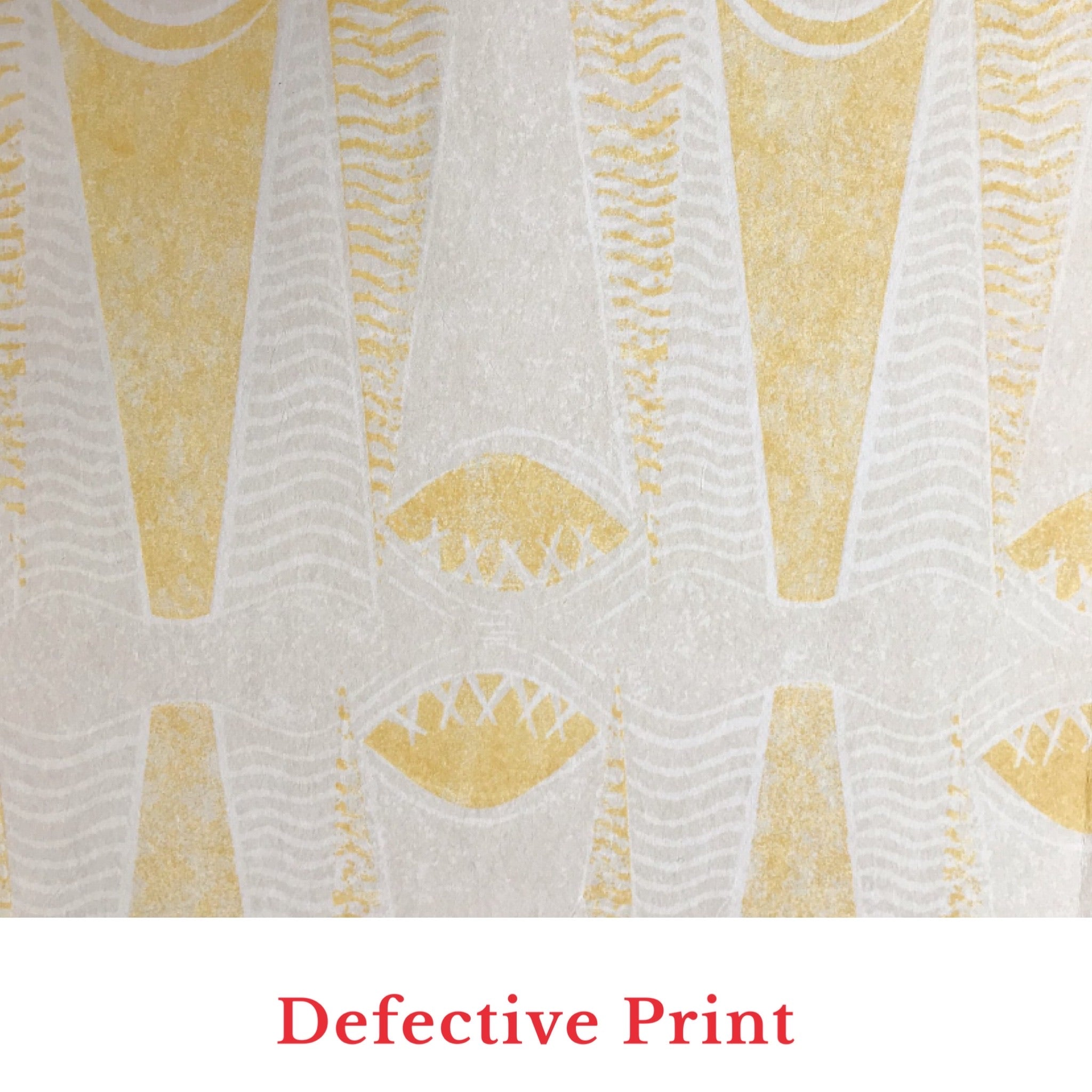 Virginia White Sompting Wallpaper Extra Wide - Yellow