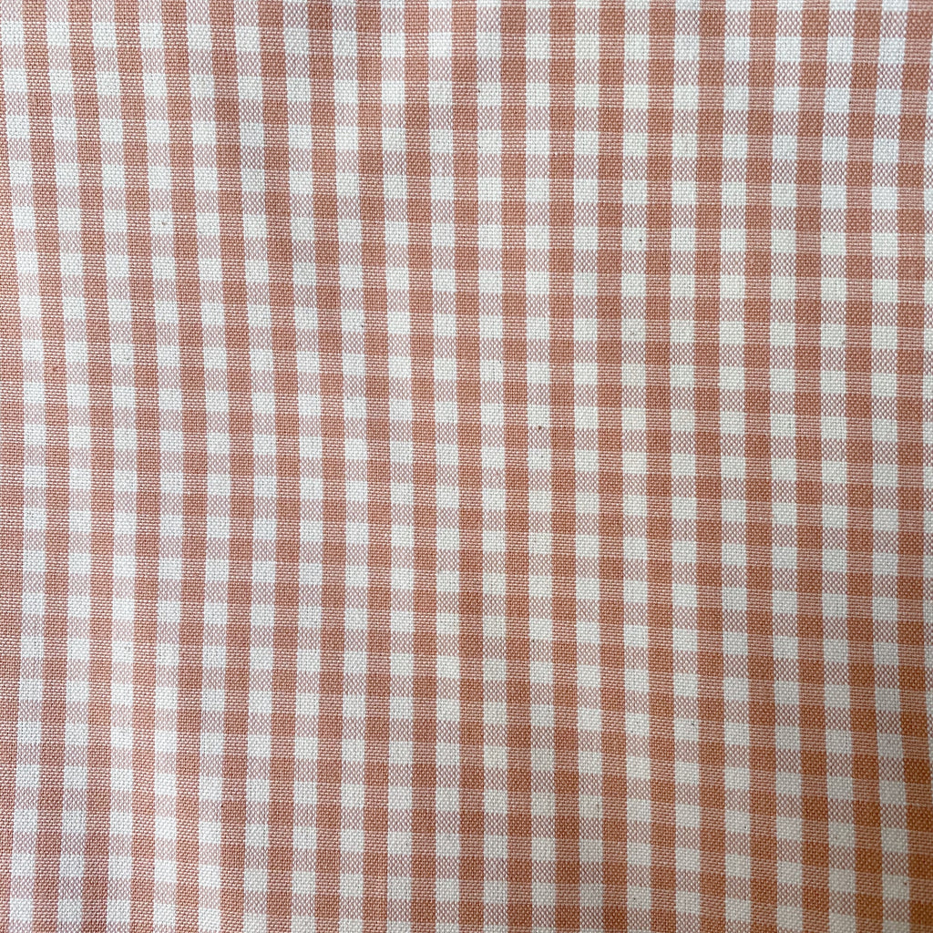 Classic Small Gingham Cotton - Coral