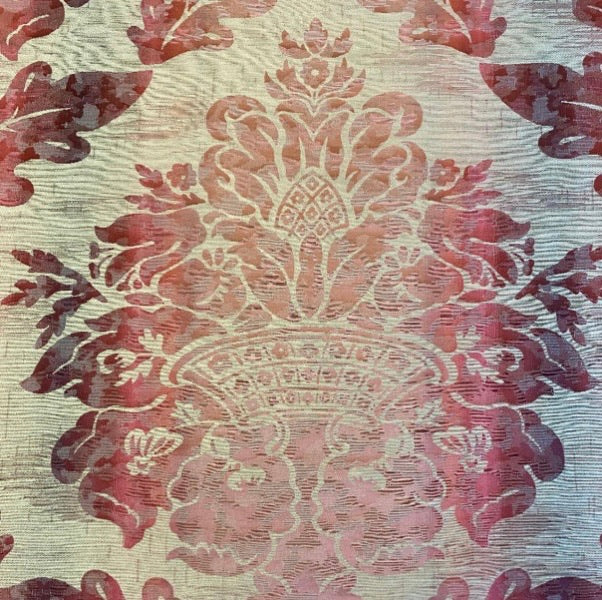 Colefax and Fowler Seymour Damask - Red Ombre
