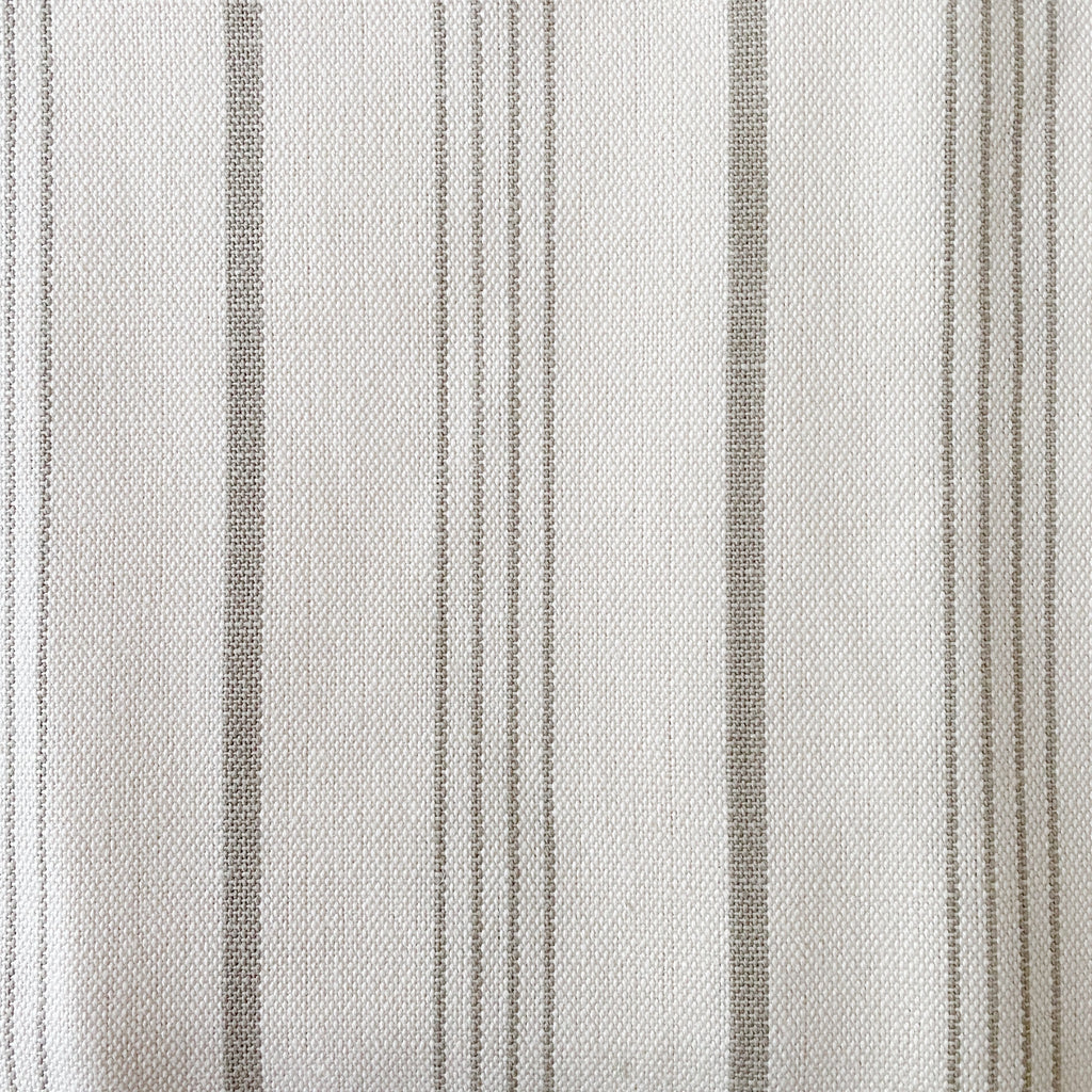 Heavy Cotton Stripe - Cream and Beige