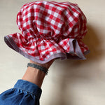 Bath Cap - Red Gingham