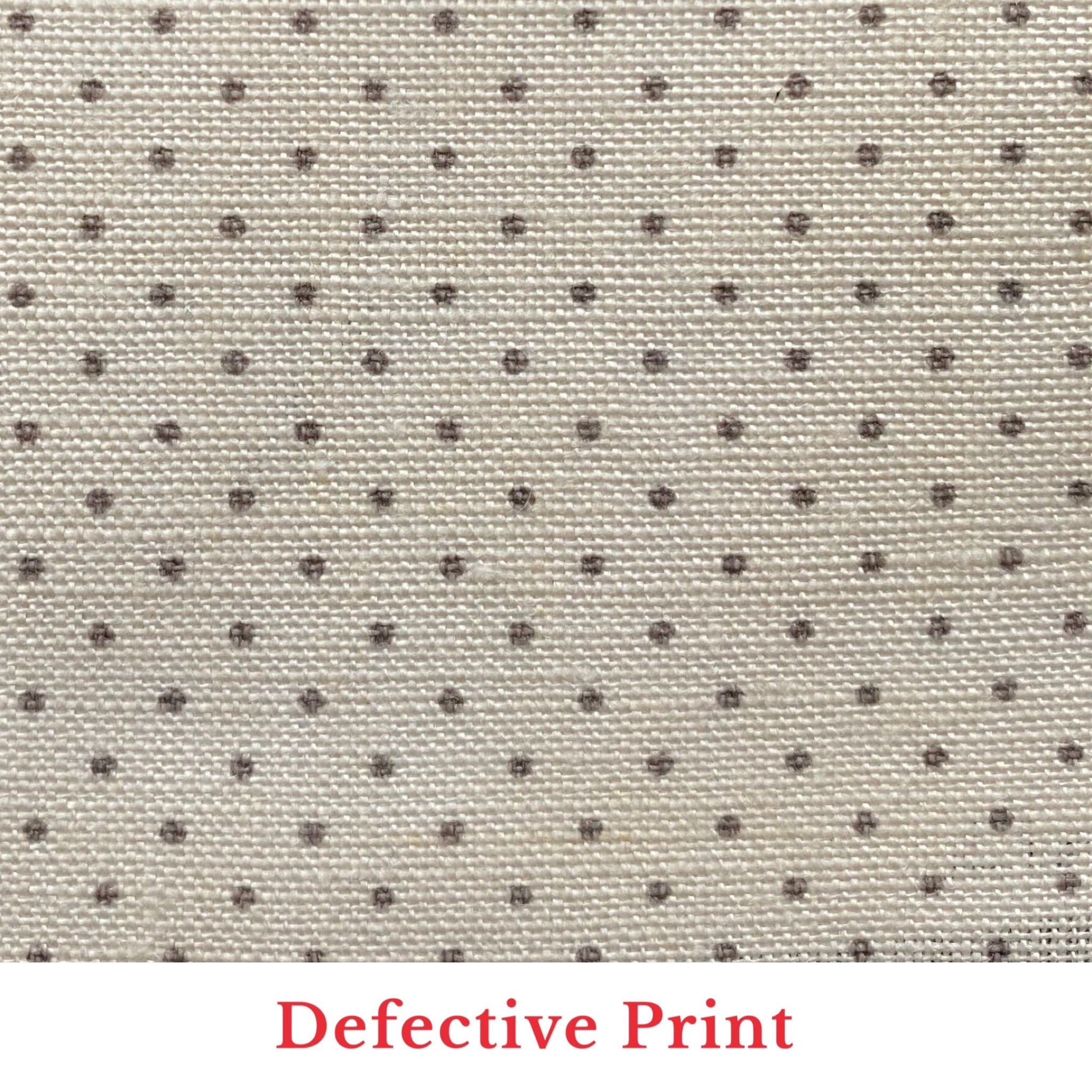Cloth and Clover Linen Spot - Taupe on White