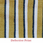 Tapet Cafe Stripe - Navy and Mustard