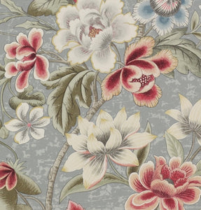 Colefax and Fowler Celestine Wallpaper - Blue and Red