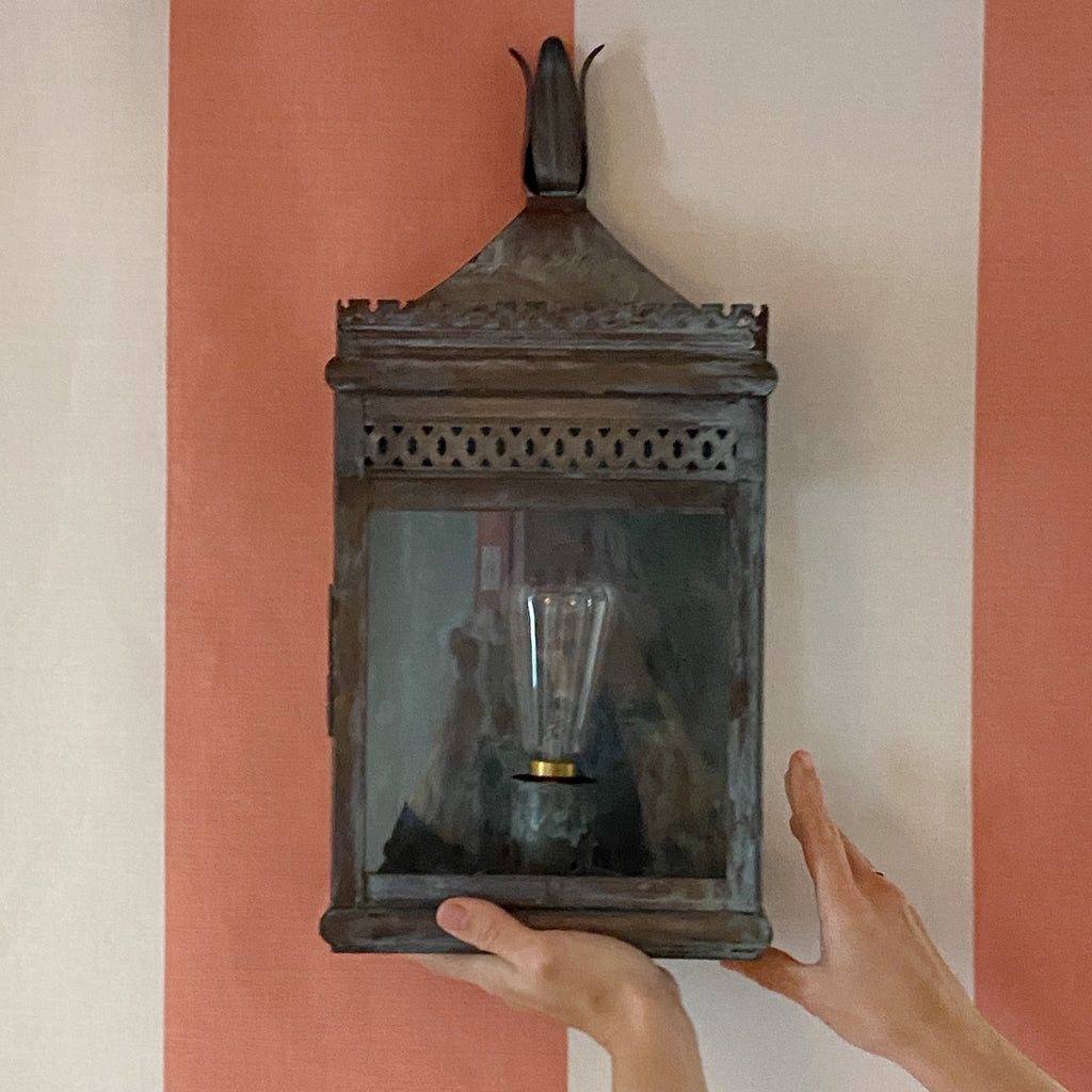 The French House Antibes Wall Lantern - Grey