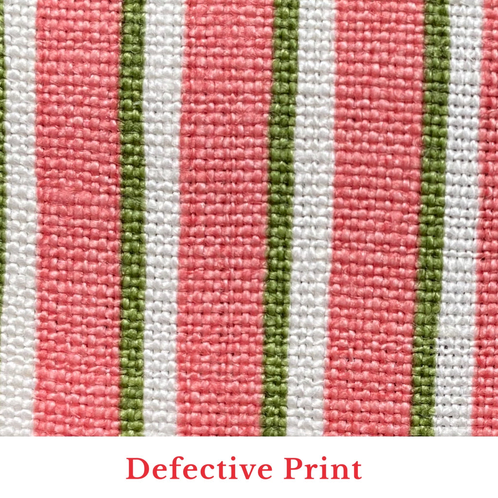Tapet Cafe Stripe - Coral and Green
