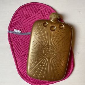 Eco Hot Water Bottle and Cover - Bright Pink
